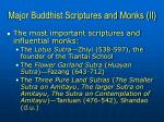 major buddhist scriptures and monks ii