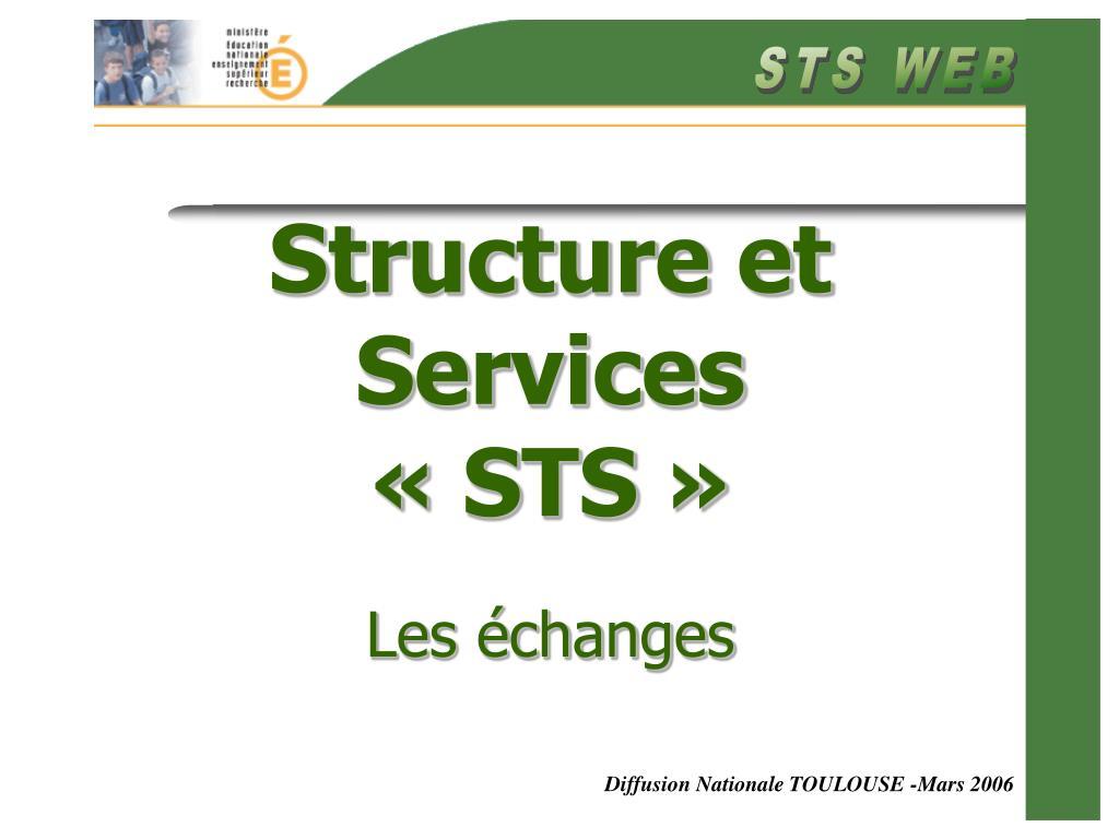 structure et services sts les changes l.