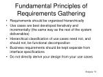 fundamental principles of requirements gathering