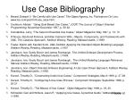 use case bibliography