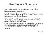 use cases summary
