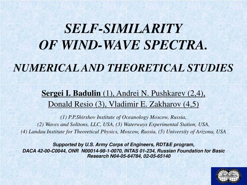 self similarity of wind wave spectra numerical and theoretical studies l.
