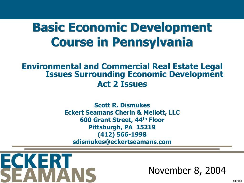 basic economic development course in pennsylvania l.