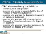 cercla potentially responsible parties