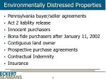 environmentally distressed properties