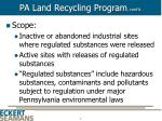 pa land recycling program cont d