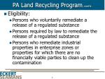 pa land recycling program cont d8