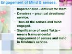 engagement of mind senses