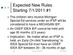 expected new rules starting 7 1 2011 1