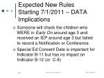 expected new rules starting 7 1 2011 data implications