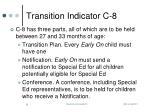transition indicator c 8