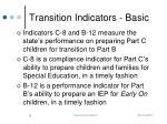 transition indicators basic
