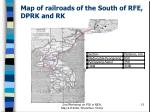 map of railroads of the south of rfe dprk and rk