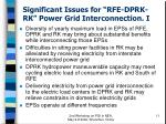significant issues for rfe dprk rk power grid interconnection i