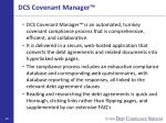 dcs covenant manager
