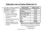 c lculos con el frame ethernet 1