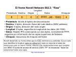 el frame novell netware 802 3 raw