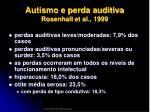 autismo e perda auditiva rosenhall et al 19998