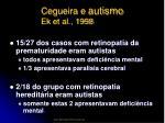 cegueira e autismo ek et al 199820