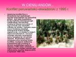 w cieniu and w konflikt peruwia sko ekwadorski z 1995 r