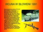 wojna w s oweni 1991