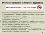 emi raccomandazioni in ambiente ospedaliero