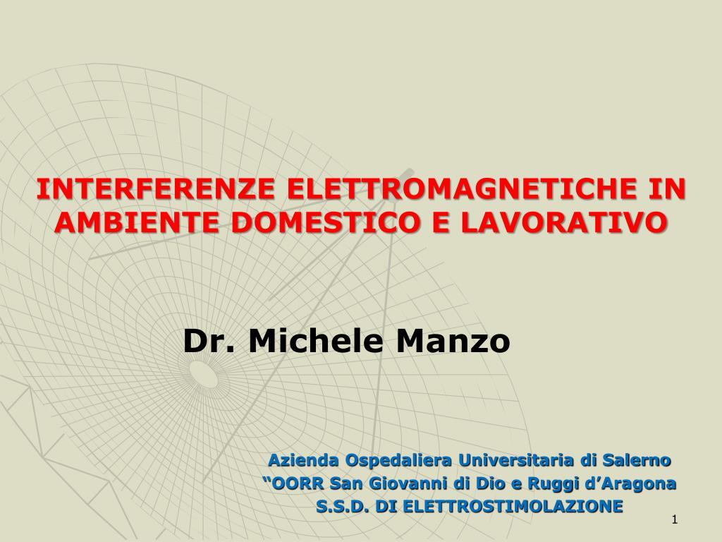 interferenze elettromagnetiche in ambiente domestico e lavorativo l.