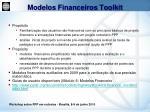 modelos financeiros toolkit