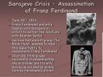 sarajevo crisis assassination of franz ferdinand