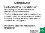 mineralkv ve