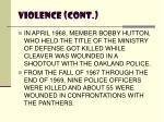 violence cont