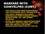 warfare with cointelpro cont