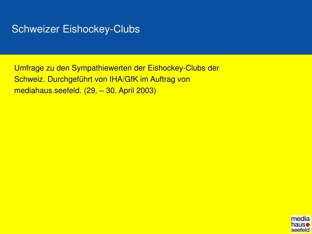 schweizer eishockey clubs l.