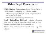 other legal concerns