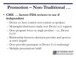 promotion non traditional13