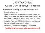 usgs task order alaska dem initiative phase ii