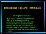 booktalking tips and techniques