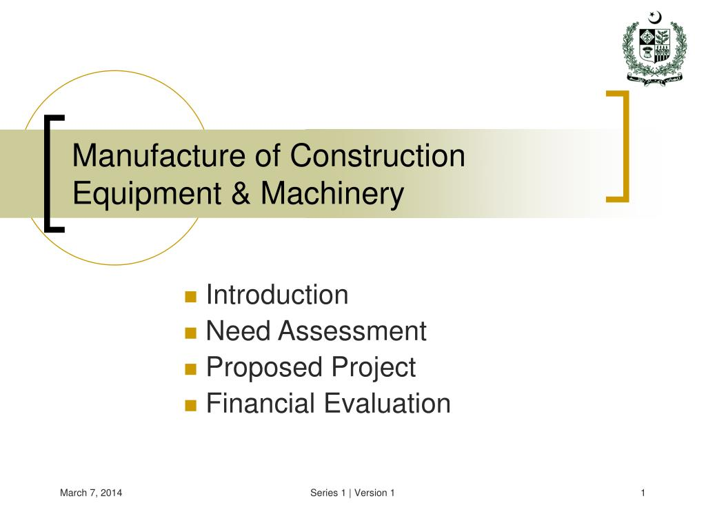 manufacture of construction equipment machinery l.