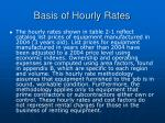 basis of hourly rates