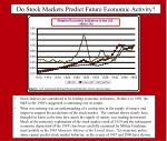 do stock markets predict future economic activity