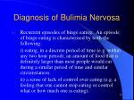 diagnosis of bulimia nervosa