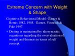 extreme concern with weight shape