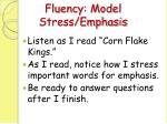 fluency model stress emphasis11