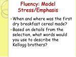 fluency model stress emphasis12