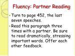 fluency partner reading70