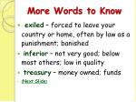 more words to know