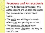 pronouns and antecedents34