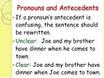 pronouns and antecedents62