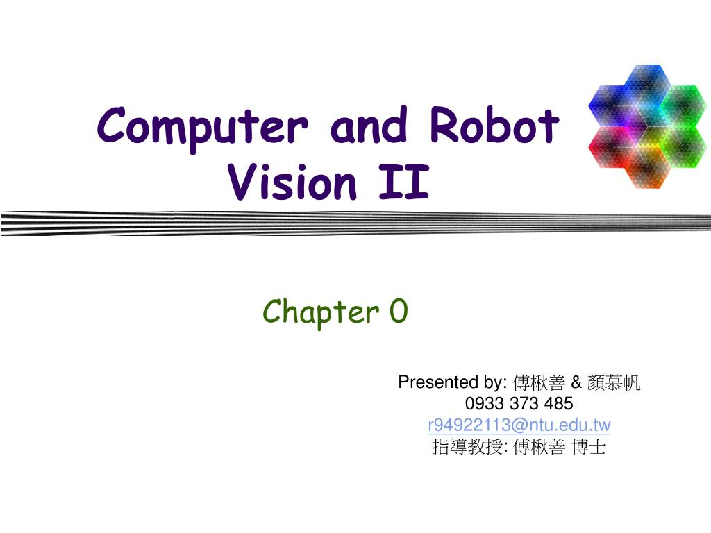 computer and robot vision ii l.