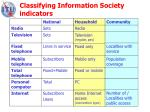classifying information society indicators